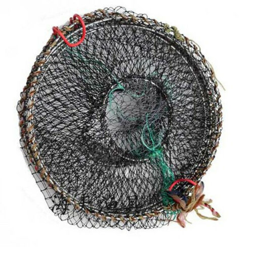 METAL CRAYFISH TRAPS LIVE BAIT EEL SHRIMP PRAWN FISH CRAB DROP CAGE NET POT
