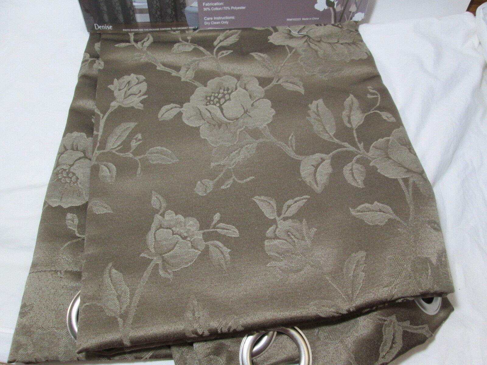 Victoria Classics Cotton Blend Grommet Two Panels DENISE 76x84 76x84 76x84 braun Floral New e497bd