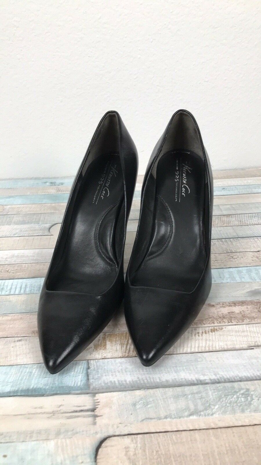 KENNETH COLE WOMENS BLACK LEATHER POINTED TOE PARKVILLE STILETTO PUMP 9 057 4