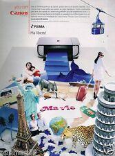 Publicité advertising 2007 Imprimante Canon Pixma