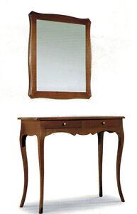 Consolle E Specchiera.Dettagli Su Consolle E Specchiera In Arte Povera Specchio Ingresso Classico Mobile Specchio
