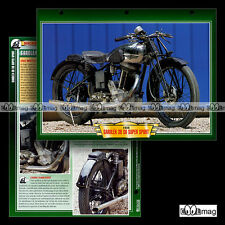 #112.11 Fiche Moto SAROLEA 600 38 S6 SUPERSPORT 1938 Racing Bike Motorcycle Card