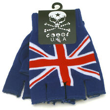 New Unisex Fingerless Punk Rocker Union Jack British UK Flag Gloves Warmers