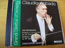 CLAUDIO ABBADO FELIX MENDELSSOHN   CD OGGI