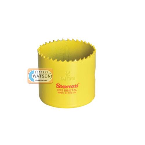 Starrett 21mm Holesaw High Speed Steel Bi-Metal Hole Saw HSS Wood Metal Plastic