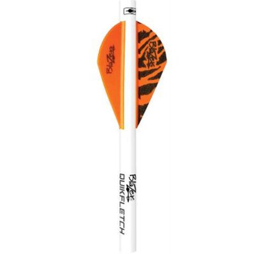 Bohning Blazer QuikFletch Shrink Fletch Orange Tiger Orange 6pk #20047 Arrow