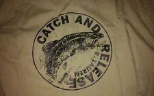 NWT Vintage Ralph Lauren POLO TAN Catch & Release Button Down Shirt sz Large