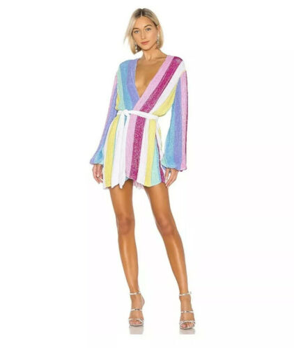 Retrofete Gabrielle Robe Unicorn Rainbow Sequin Dr
