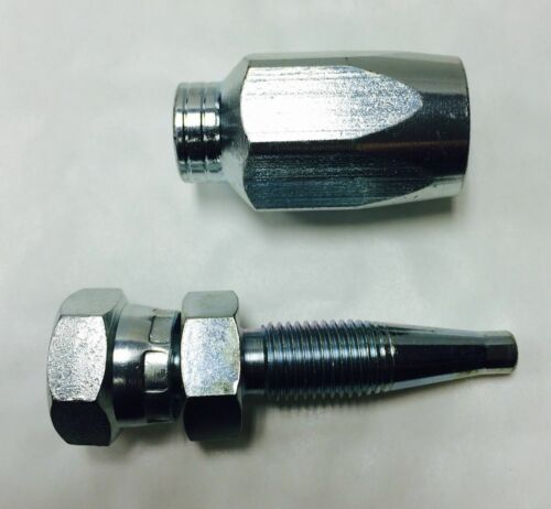 Kit De Reparación De Manguera Hidráulica Reutilizable 3//8 R1AT /& 1SN Manguera X 3//8 BSP Hembra Inserto