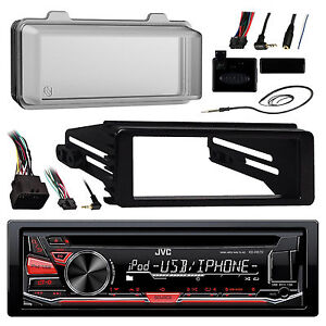 99-9600-Harley-FLTC-Install-Adapter-Kit-Antenna-Cover-JVC-USB-AUX-Receiver