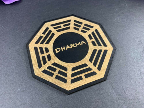 Coaster Set Gift Personalisable Engraved Wooden Lost Dharma ...