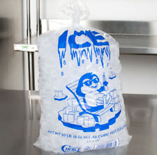 2000 Case 8 Lb Clear Plastic Ice Bags Machine Commercial Barcode Blue 2 Pack