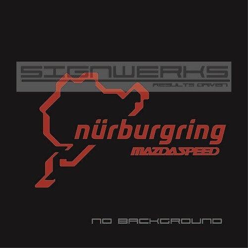 Mazdaspeed Nurburgring Decal Sticker logo JDM Mazda 3 5 CX3 Miata Pair