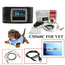 CE CMS60C Veterinary Pulse Oximeter SPO2 monitor Pulse Rate Vet/Pet SPO2 probe