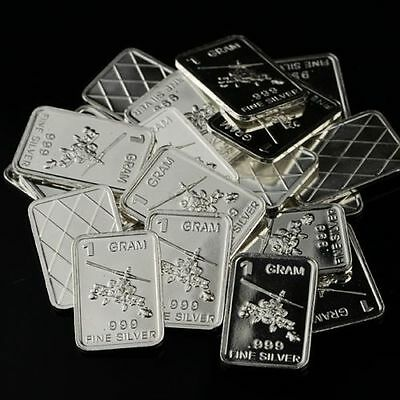"/""Boeing AH-64 APACHE ATTACK helicopter/"" Lot of 10 1 gram .999 Fine silver bar."