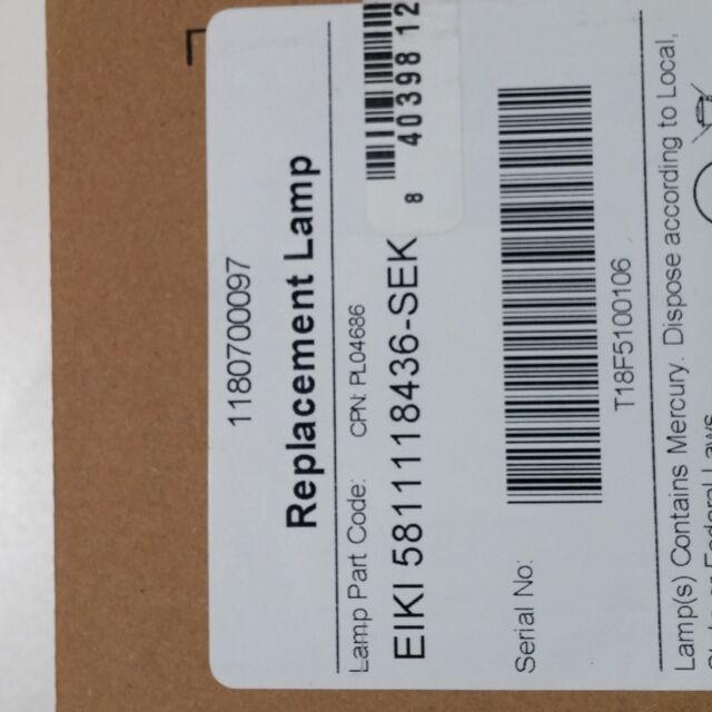 Arclyte Eiki Eip-X5500;5811118436-Sek Projector Lamp with Housing I