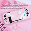 Kawaii-Cat-Pink-Hard-Case-Cover-for-Nintendo-Switch-Console-Jon-Cons miniature 6