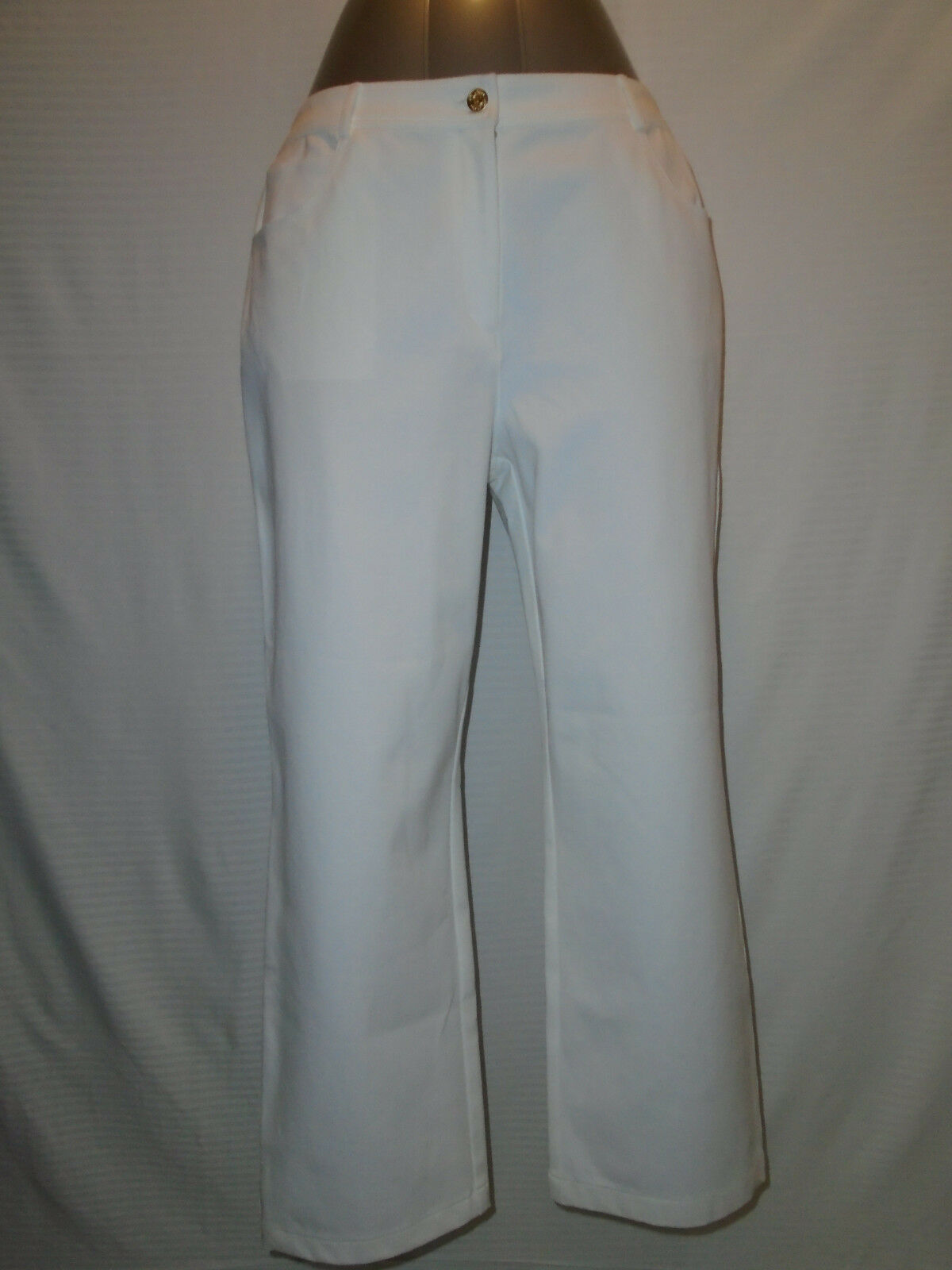New St. John Womans Bright Weiß Marie Dress Pants Größe 14