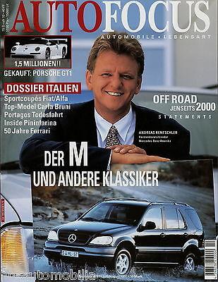 Auto & Verkehr Auto Focus 4/97 1997 Porsche Gt1 Bentley Continental Enzo Ferrari Saab 95 Pajero Billigverkauf 50%