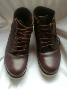 Red Wing  1608 Classic Round Toe Brown Leather Boots Size USA 8 D/ UK 7