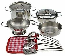 Metal Pots And Pans Kitchen Cookware Play set PS15B