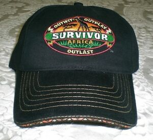 99de3c2cc Details about SURVIVOR Africa Baseball Cap Hat - black with embroidered  buff logo patch - NEW