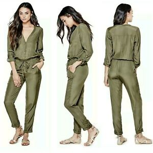 ed330bdc689 Image is loading NWT-GUESS-Olive-Quinns-Utility-Jumpsuit-SIZE-M