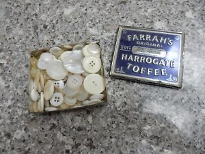 Details about MOTHER OF PEARL PLASTIC AND OTHER BUTTONS A BOX FULL TO  UPCYCLE VINTAGE