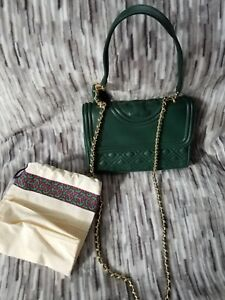 5f869fd6f9c1 Image is loading Tory-Burch-Fleming-Small-Convertible-Shoulder-Bag-Green