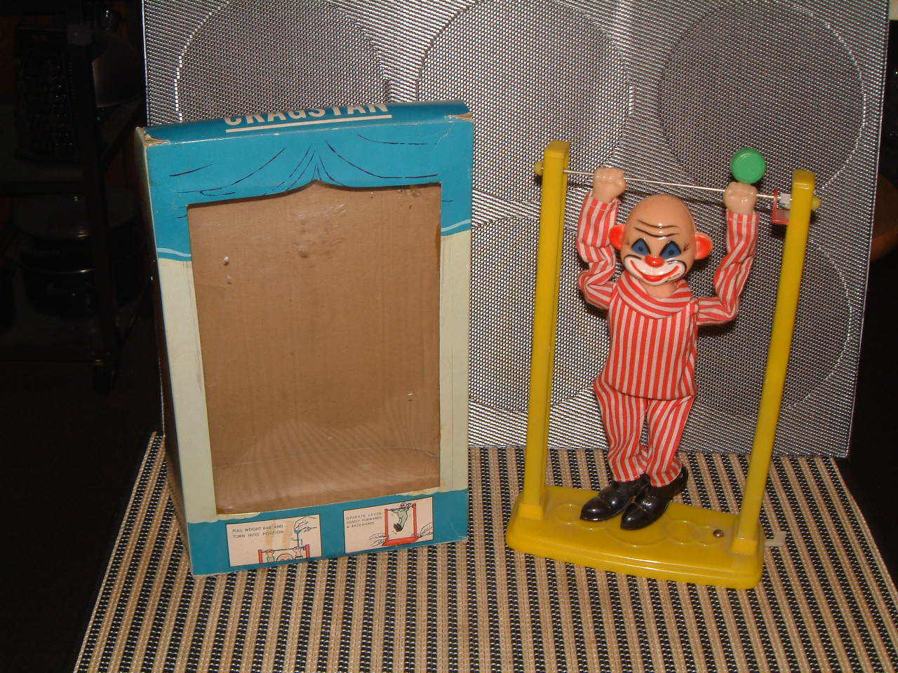 CRAGSTAN VINTAGE, PERFORMING PETE, ACROBATIC CLOWN, PERFECTLY WORKING W BOX