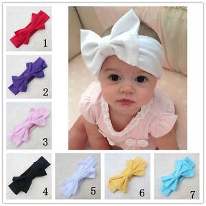 Details about Lovely Cute Baby Newborn Hairband Turban Knot Head Wrap  Headband Big Bow Stretch 92e55d9ac90