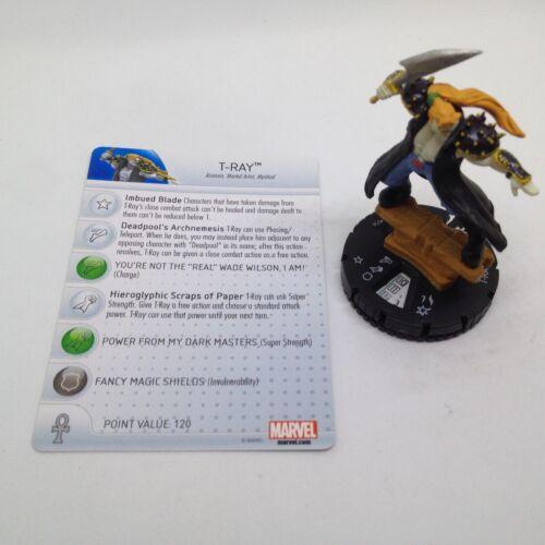 Heroclix Deadpool set T-Ray #056 Super Rare figure w//card!