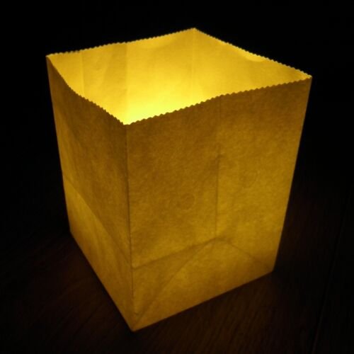 9cm x 7cm Small Plain Candle Bags a pack of 10 white paper luminary lanterns