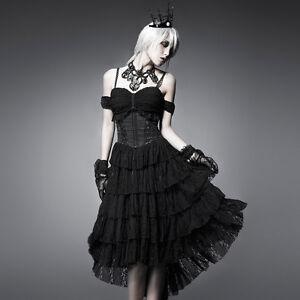NEW-Punk-Rave-Gothic-Black-Sexy-Multilevel-Dress-ALL-STOCK-IN-AUSTRALIA