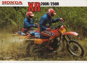 1983-HONDA-XR200RD-XR250RD-ENDURO-BIKE-4-page-Motorcycle-Sales-Brochure-NCS