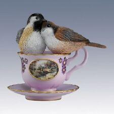 Our Love is Brewed to Perfection - Tealightful Tweet Bird Teacup Figurine