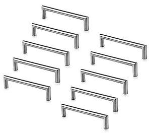 Dettagli su 10 Pezzo - Maniglie Mobili Acciaio Inox Satinato Ø 12 mm Leila  Maniglie Cucina