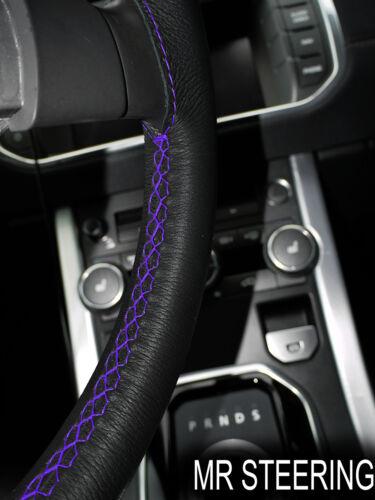 Fits bmw E36 série 3 noir volant en cuir housse violet double surpiqûres