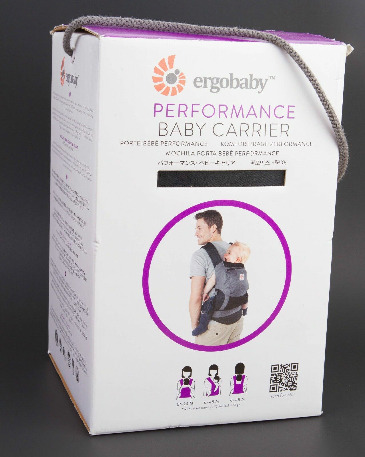 89f829c5894 Buy Ergobaby Cool Air Mesh 3 Position Baby Carrier Charcoal Grey ...