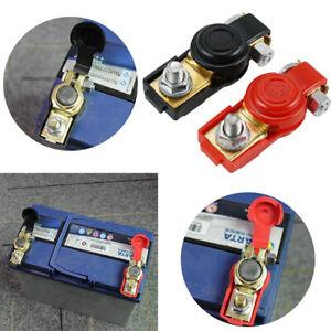 2x Heavy Duty Car Battery Terminals Connectors Quick Release Cut Off Clamps 12V