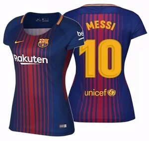 huge selection of bc412 1d655 Details about NIKE LIONEL MESSI FC BARCELONA WOMEN'S HOME JERSEY 2017/18.
