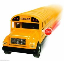 "5"" NEW Yellow School Bus Diecast Model pull back action openable doors 5 inch"