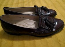 RJ Colt shoes, oxblood tassel loafers, 12