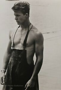 1981-Vintage-BRUCE-WEBER-Male-Jon-Clammer-Martha-Vineyard-Summer-Photo-Art-16X20