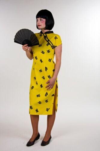 FM Damen Kostüm Chinesin Cheongsam Kleid Karneval Fasching