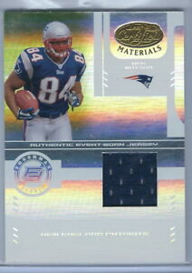finest selection 30f1c cd62d Details about 2004 Leaf Certified Materials FB Ben Watson Patriots Rookie  Jersey Card 281/1250