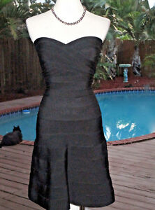 Herve Fr34 Club Xs Jurk Flair Bandage 0 Strapless Wflair Bodycon Leger Blk 2 v80wnmNO