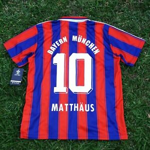 watch 3b3dd 13396 Details about Bayern Munich FC, Men's Retro Soccer Jersey, UEFA 95-96,  Matthäus#10, Replica