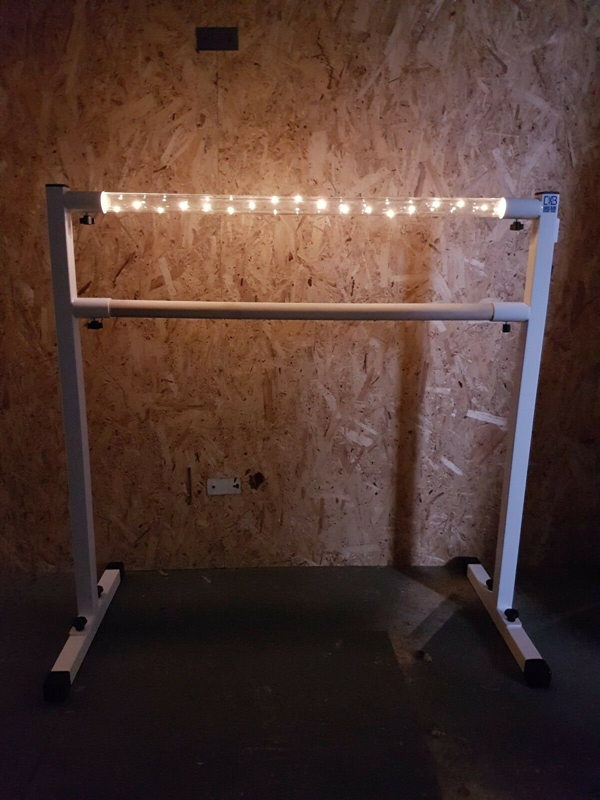 Light up Ballet barre, bar ,portable freestanding, double barre. fitness dance