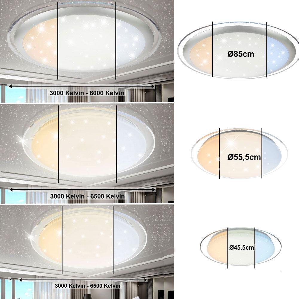 Design plafonniers LED salon chambre ciel étoilé télécommande jour dimmable neuf